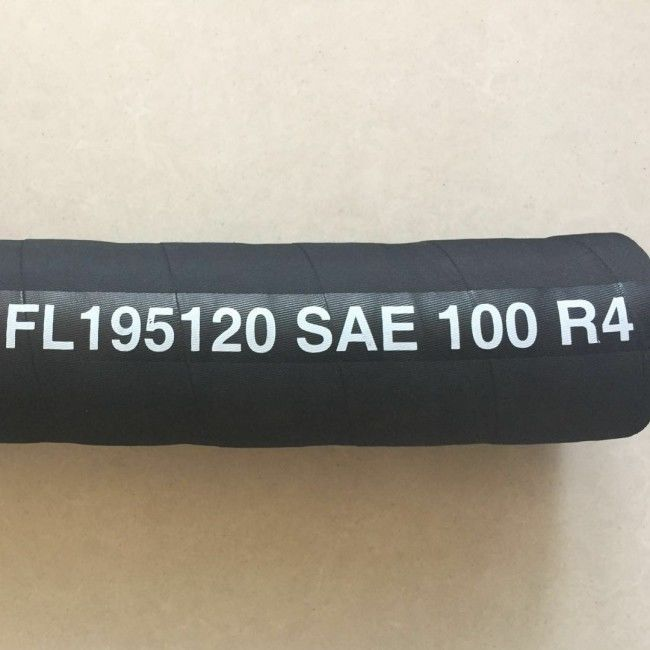 SAE 100 R4 Hydraulic Oil Delivery Hose With Textile Cord And Customized Logo Design